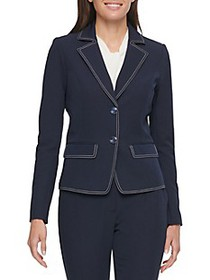Tommy Hilfiger Pic Stitched Two-Button Jacket