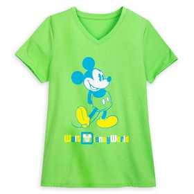 Disney Mickey Mouse Classic Neon T-Shirt for Women