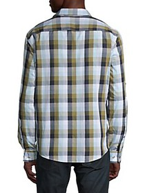 Perry Ellis Untucked Check Cotton Shirt
