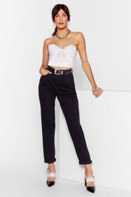 Nasty Gal Black Shred That Wave Distressed Mom Jea