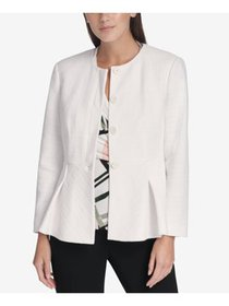 DKNY Womens White Suit Wear To Work Jacket Petites