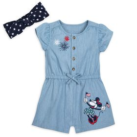 Disney Minnie Mouse Americana Romper for Baby – Di