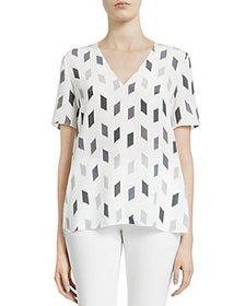 Theory - Printed Silk Top