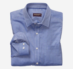 Johnston Murphy Framed Grid Dress Shirt