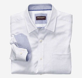 Johnston Murphy Alternating Dash Neat Dress Shirt