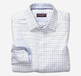 Johnston Murphy Dotted Windowpane Dress Shirt