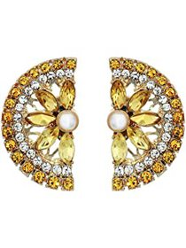 Betsey Johnson Lemon Button Earrings