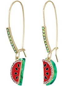 Betsey Johnson Watermelon Sheppard Hook Earrings