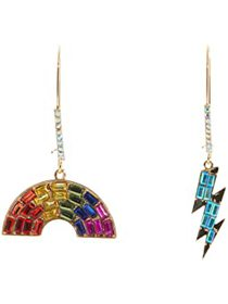Betsey Johnson Rainbow Bolt Mismatch Sheppard Hook