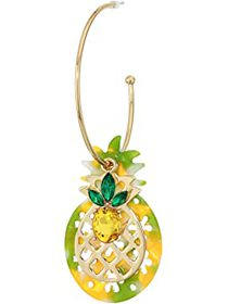 Betsey Johnson Stay Wild Pineapple Convertible Hoo