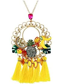 Betsey Johnson Banana Long Pendant