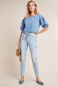 Anthropologie Closed Baker High-Rise Distressed Sl