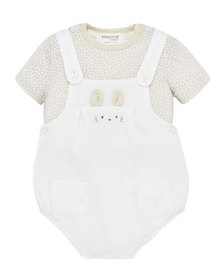 Mayoral Boy's Bunny Overall w/ Shirt Set, Size 2-1