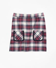 Brooks Brothers Girls Twill Plaid Skirt
