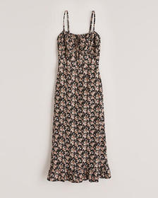 One-And-Only Midi Dress, BLACK FLORAL