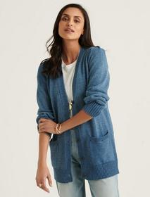 Lucky Brand Pleated Shoulder Cardigan