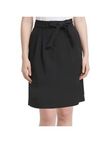 Women's Skirt Petite A-Line Paperbag Textured 10P