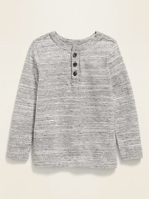 Long-Sleeve Henley for Toddler Boys