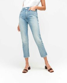 7 For All Mankind High Waist Cropped Straight in R