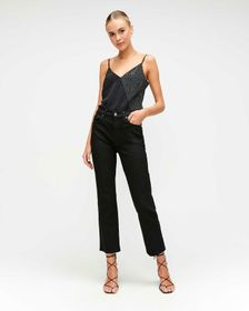 7 For All Mankind High Waist Cropped Straight in N