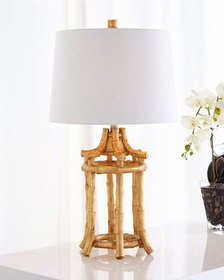 Couture Lamps Golden Bamboo Table Lamp