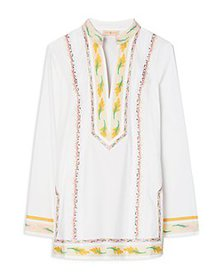 Tory Burch - Embroidered Cotton Tunic