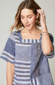 Patchwork & Stripes A-Line Top