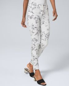 Sculpt High-Rise Floral-Print Skinny Ankle Jeans