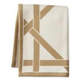 Cane Cashmere and Wool Throw, Latte