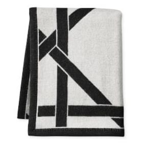 Cane Cashmere and Wool Throw, Black