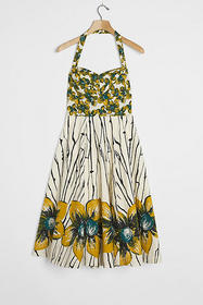 Anthropologie Orchid Mini Dress