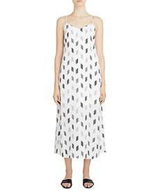Theory - Double Strap Printed Slip Dress