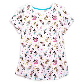 Disney Mickey and Minnie Mouse Scoop Neck T-Shirt