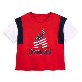 Disney Americana Color Block Tee for Women – Disne