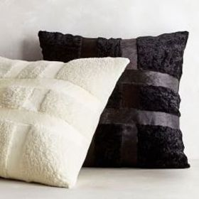 Shearling Hide Pillow Cover