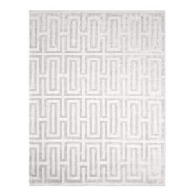 Textured Tencel Hand Knotted Rug, Light Grey