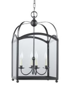 Arched Top Lantern, Oiled Bronze
