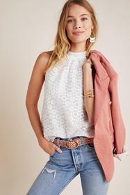 Anthropologie Felicia Lace Halter Blouse