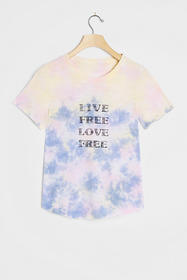 Anthropologie Live Free Love Free Graphic Tee