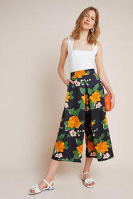 Anthropologie Clemence Pleated Wide-Leg Pants