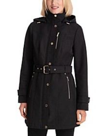 Hooded Belted Raincoat, Created for Macy's