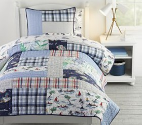 Pottery Barn Surf Vibes Quilt & Shams