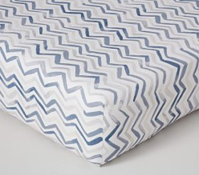 Pottery Barn Finley Multi Chevron Washed Linen Cot