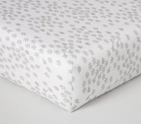 Pottery Barn Herd Of Elephants Washed Linen Cotton