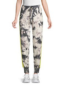 Central Park West Drawstring Printed Joggers