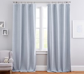 Pottery Barn Honeycomb Jacquard Blackout Curtain P