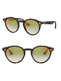 Ray-Ban RB2180 51MM Phantos Mirrored Round Sunglas