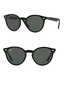 Ray-Ban RB4380 61MM Blaze Round Sunglasses BLACK