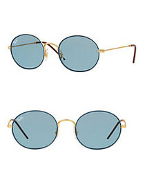 Ray-Ban 53MM Oval Sunglasses BLUE