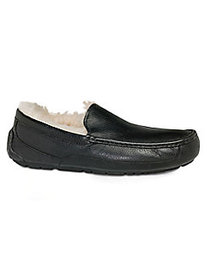 UGG Men's Ascot UGGpure-Lined Leather Slippers BLA